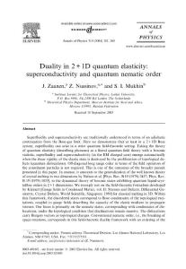Duality in 2   1D quant..