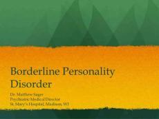 Borderline Personality Disorder - Squarespace