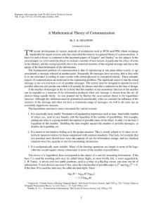 【信息】通信的数学基础(信息论开山之作,香农,1948)