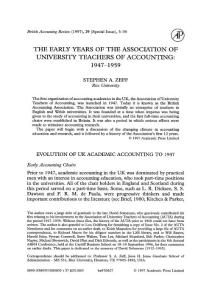 THE EARLY YEARS OF THE ASSOCIATION OF UNIVERSITY TEACHERS OF…