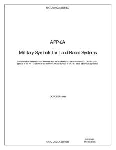 美國國防部資料NATO Military Map Symbols for Land Based Systems (Symbolism, Maps, NATO)