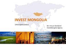 INVEST MONGOLIA - 3-5 November 2014  Vienna  ...