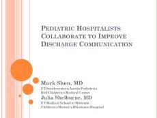 Improving Pediatric Hos..