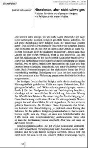 Dietrich Sctiwarzl《opf Hinnehmen, aber nicht schweigen