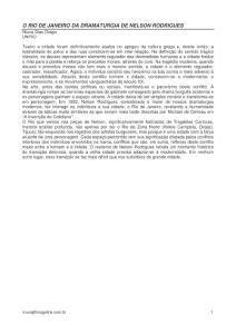 O RIO DE JANEIRO DA DRAMATURGIA DE NELSON RODRIGUES…