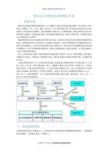機房動力環境監控及門禁控制系統