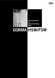 Planning Manual for Horizontal Sliding Walls DORMA ...