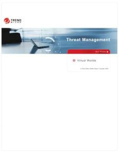 Threat Management - Trend Micro Internet Security