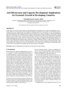 Aid Effectiveness and C..