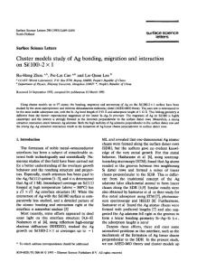 cluster models study of ..
