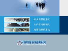 煤炭安全质量标准化精细化管理与信息化