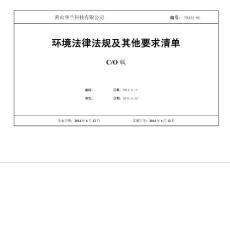 法律法规清单、适用法律法规清单2016.6【最新精选】