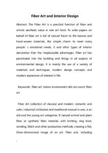 Fiber Art and Interior Design