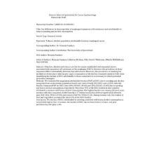 elsevier editorial systemtm for cancer epidemiology:elsevier编辑系统tm癌症流行病学