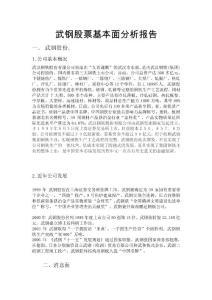武鋼股票基本面分析報告