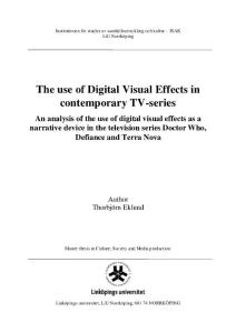 The use of Digital Visual Effects in contemporary TV-series