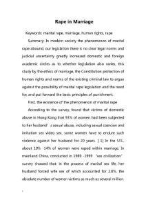 Rape in Marriage