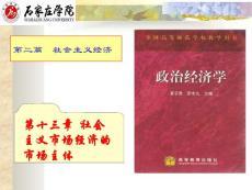 第十三章:社会主义市场经济发的市场主体