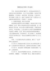 网吧协会管理工作总结【精选文档】
