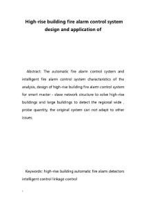 High-rise building fire alarm control system design and application of