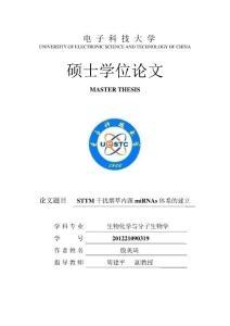 STTM干扰烟草内源miRNA..