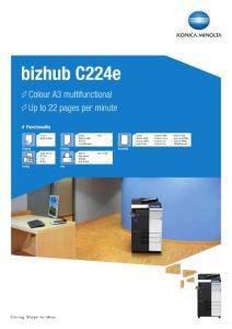 bizhub C224e - Minolta