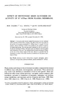 Effect of phytotoxic resin glycoside on activity of H -ATPase from plasma membrane