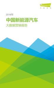 2016年中国新能源汽车大数据营销报告