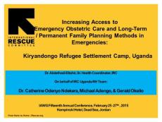 Increasing Access to Emergency Obstetric Care and Long - IAWG