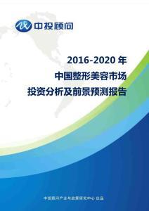 2016-2020年中国整形美容市场投资分析及前景预测报告