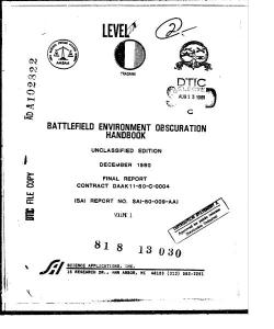 battlefield environment obscuration handbook. volume i(13.99mb)