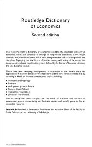 routledge dictionary of ..