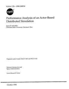 performance analysis of an actor-based distributed simulation