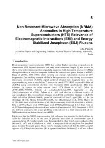 Non Resonant Microwave Absorption (NRMA) Anomalies in High temperature superconductors (HTS) relevance of electromagnetic