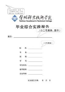 毕业综合实践报告模板及格..