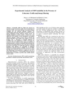 and communication amp; 2012 ieee 9th international conference on embedded software and systems - experimental analysis of smp scalability in the presence of coherence traffic and snoop filtering