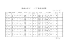 作业检查记录表