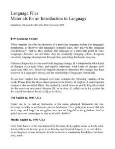 Language Files Materials for an Introduction to ...