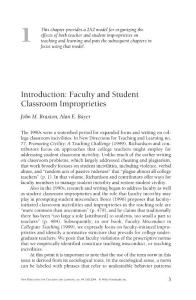 introduction faculty and student classroom improprieties