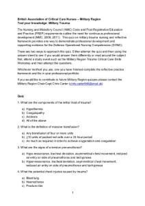 Trauma Quiz - British Association of Critical Care Nurses