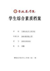 学生综合素质档案电子版