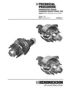 Wheel-End Maintenance Procedures - Hendrickson