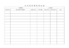 公司证件借用登记表