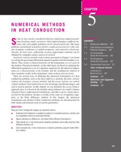 NUMERICAL METHODS IN HEAT CONDUCTION S