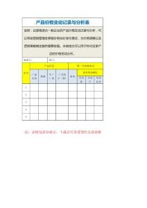 产品价格变动记录与分析表