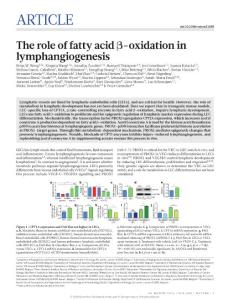 nature21028-The role of fatty acid β-oxidation in lymphangiogenesis