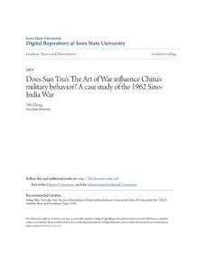 Does Sun Tzu´s The Art of War influence China´s military...
