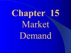Chapter 15Market Demand..