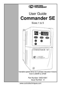 commander se变频器用户手册