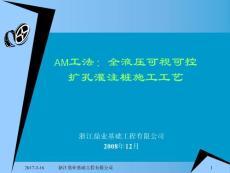 AM工法:扩孔灌注桩及HPE插入法施工工艺(1)讲解